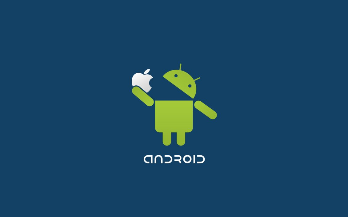 creative android fix apple logo funny wallpaper   high definitions
